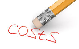 Erase Costs (clipping path included) Royalty Free Stock Image