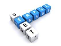 Erase debt concept Royalty Free Stock Images