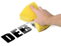 Erase Debt Royalty Free Stock Image