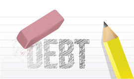 Erase debts concept illustration design Royalty Free Stock Photo