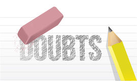 Erase doubts concept illustration design. Over a white background Royalty Free Stock Photo