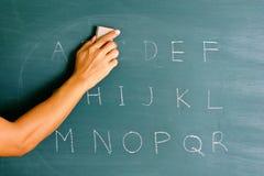 Erase e riscrittura Fotografia Stock Libera da Diritti