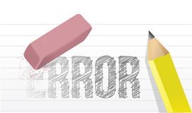 Erase errors concept illustration design Stock Photo
