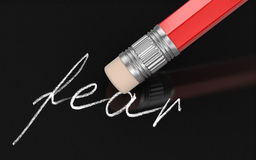 Erase Fear (clipping path included) Stock Photos