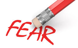 Erase Fear (clipping path included) Stock Image