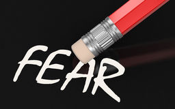 Erase Fear (clipping path included) Royalty Free Stock Images