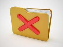 Erase folder icon. 3d high quality render Royalty Free Stock Image