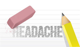 Erase headache concept illustration design Stock Photo