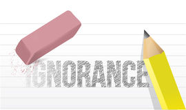 Erase ignorance concept illustration Royalty Free Stock Photography