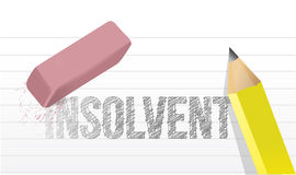 Erase insolvency concept illustration. Design over a white background Royalty Free Stock Photo