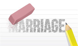 Erase marriage concept illustration design Royalty Free Stock Photo