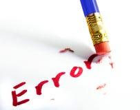 Erase the mistake Stock Image
