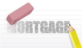 Erase mortgage concept illustration design Stock Photo