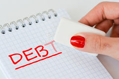 Erase a personal debt abstract Royalty Free Stock Photos
