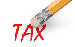 Erase Tax (clipping path included) Stock Image