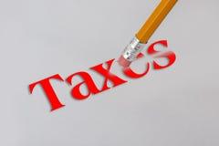 Erase Taxes. Stock Photography