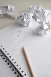 Erase The Words Idea on Paper with Crumpled paper Throw Around Royalty Free Stock Images