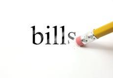 Erase your bills Royalty Free Stock Image
