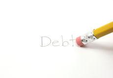 Erase your debt Stock Image