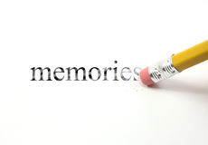 Erase your memories Royalty Free Stock Image