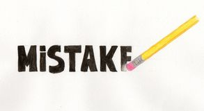 Erase your mistakes Royalty Free Stock Image