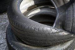 Erased automobile tires background. Structure of a tread of rubber stock photos