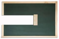 Erased chalkboard. Royalty Free Stock Image