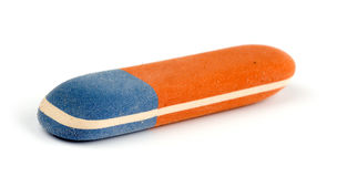 Eraser. Close up of eraser on white background Royalty Free Stock Photos