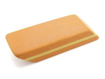 Eraser. On a white background. The image contains a contour for cropping Royalty Free Stock Images