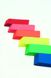 Eraser Abstract. Erasers in various color shades on a light colored background Royalty Free Stock Photography