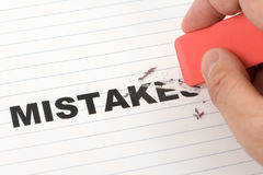 Free Eraser And Word Mistakes Stock Photography - 91471862