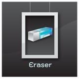 Eraser black  black  background vector Royalty Free Stock Photos