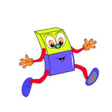 Eraser cartoon. Eraser  character cartoon  funny Royalty Free Stock Photo
