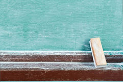 Eraser with chalkboard. Eraser with green chalkboard ( blackbord Royalty Free Stock Photography
