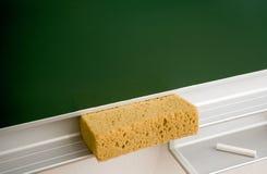 Eraser e gesso di lavagna Immagine Stock Libera da Diritti