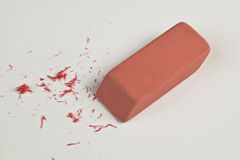 Eraser and eraser leftovers Royalty Free Stock Image