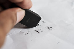Eraser and error concept royalty free stock image