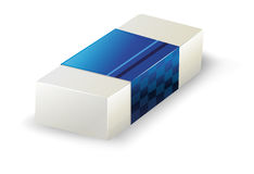 An eraser. Illustration of an eraser on a white background Stock Photos