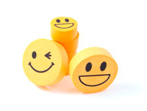 Eraser with the image of a smiley Stock Photo