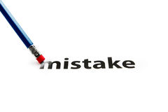 Eraser and mistake concept Royalty Free Stock Image