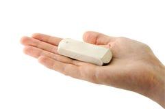 Eraser on Palm Stock Photo