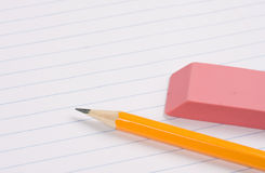 Eraser and pencil Royalty Free Stock Photos