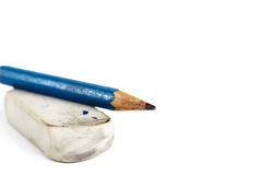 Eraser with pencil Royalty Free Stock Images
