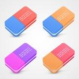 Eraser set color Royalty Free Stock Images