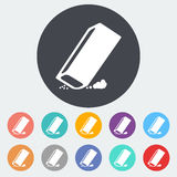 Eraser. Single flat icon on the circle. Vector illustration Royalty Free Stock Photography