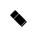 Eraser solid icon, school and education element Royalty Free Stock Image