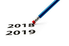 Eraser. Time concept. New year is coming. Stock Image