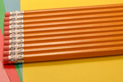 Eraser topped pencils Royalty Free Stock Photo