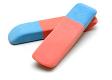 Eraser on a white background. Royalty Free Stock Photo