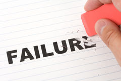 Eraser and word failure Stock Photography